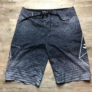 Hurley Swim - Hurley men's swim trunks gray logo